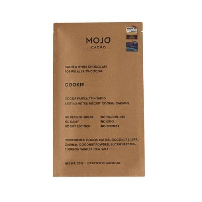 """Шоколад белый """"Cookie"""" с гречишным чаем со вкусом печенья Mojo Cacao, 20 г"""