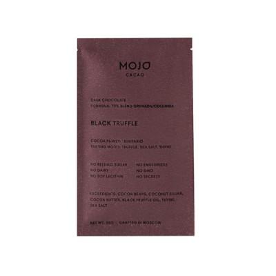 """Шоколад горький """"Black Truffle""""70% какао с черным трюфелем, морской солью и тимьяном Mojo Cacao, 20 г"""
