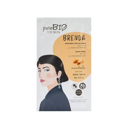 Маска кремовая PuroBio для сухой кожи Brenda Миндаль, 10мл