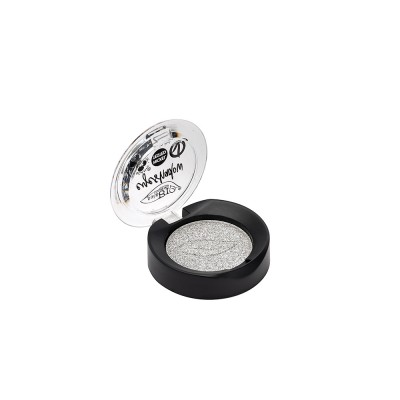 Истекает срок годности (12.2021) Тени для век PuroBio 23 серебро, 2.5г