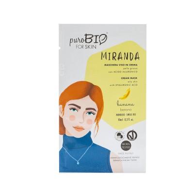 Маска кремовая PuroBio для жирной кожи Miranda Банан, 10мл
