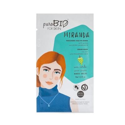 Маска кремовая PuroBio для жирной кожи Miranda Виноград, 10мл
