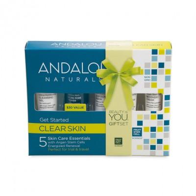 Набор ANDALU из 5 минипродуктов 'Комплексное очищение лица'