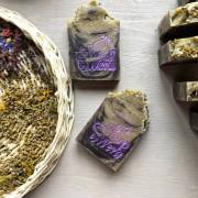 Мыло натуральное 'Лаванда и полынь', 130г