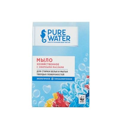 Мыло хозяйственное с эфирными маслами (Pure water), 175г